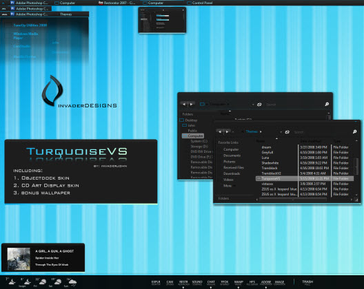 Turquoise VS : Ultra Dark Theme for Vista UmbrellaMOD.CoM