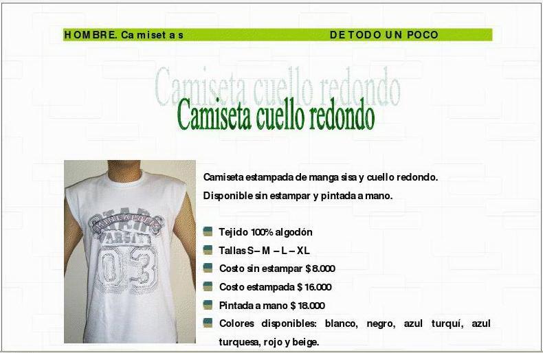 Catálogo DE TODO UN POCO