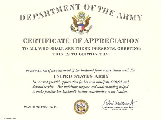 Pin army certificate of achievement template image search for Da form 2442 certificate of achievement template